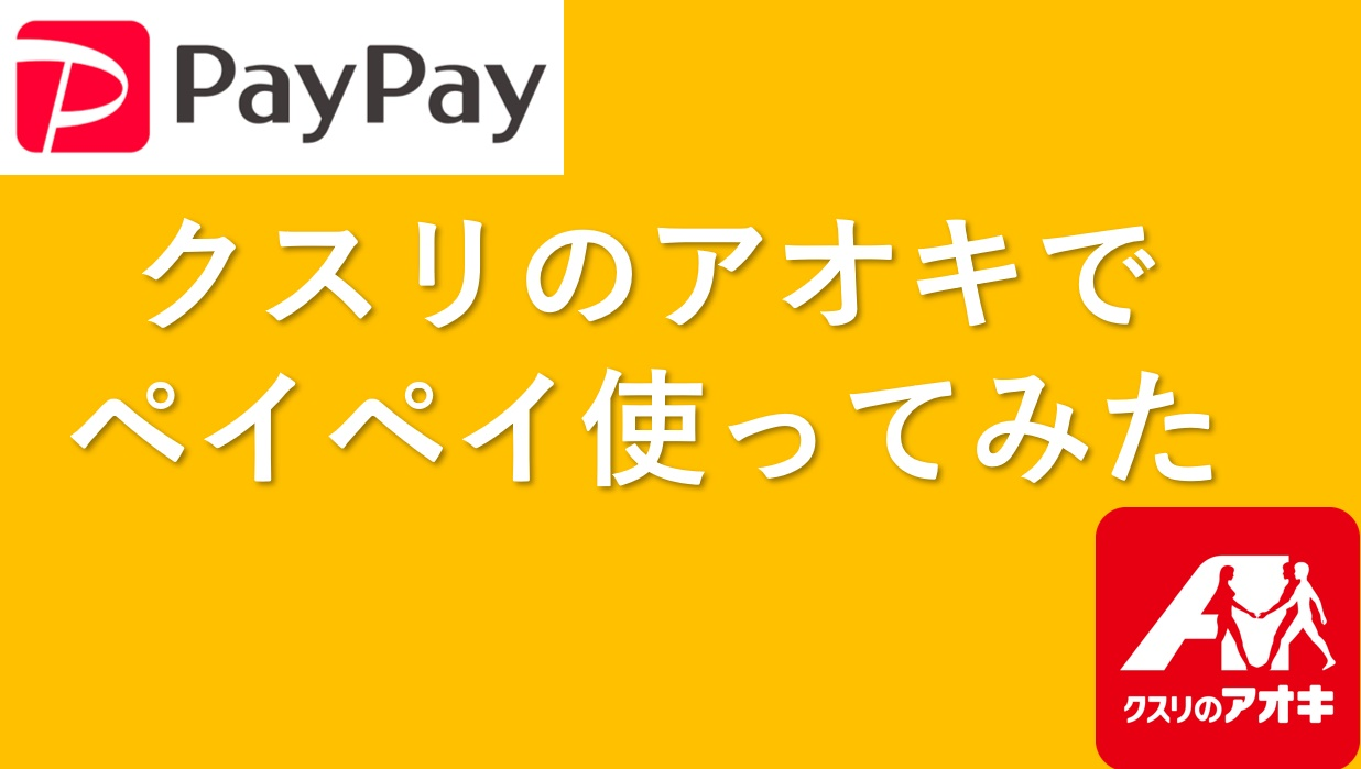 【PayPay】クスリのアオキでペイペイデビュー!使ってみた感想と注意点