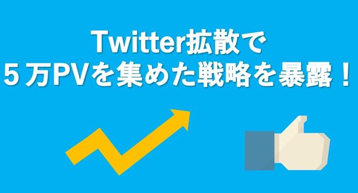 【Twitter拡散】たった1記事で5万PV集めた記事から学ぶブログのアクセスアップ戦略